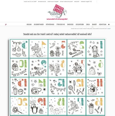 handmade Kultur Adventskalender