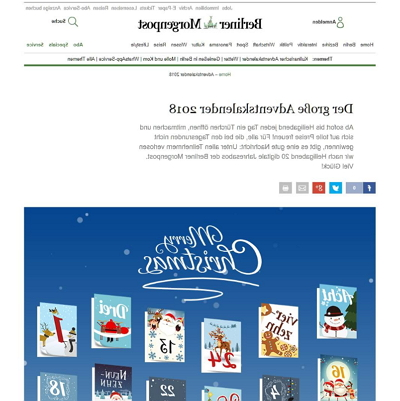 Berliner Morgenpost Adventskalender