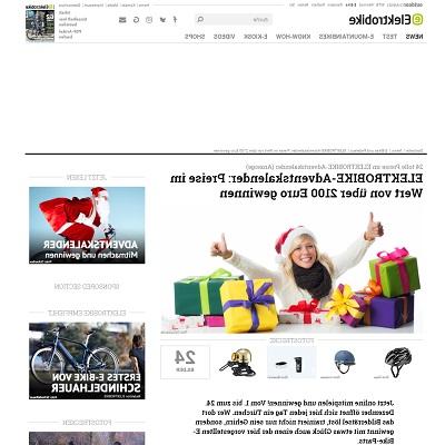 Elektrobike Adventskalender