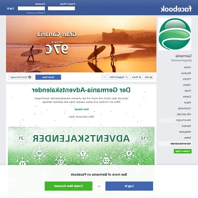 Germania Adventskalender Facebook