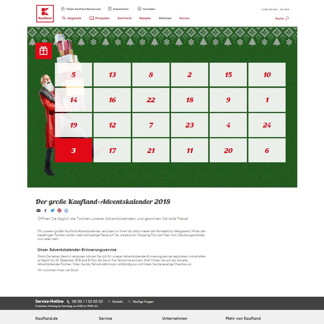 Kaufland homepage
