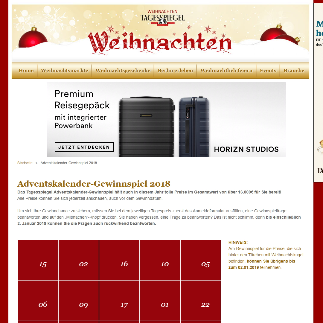 Tagesspiegel Adventskalender