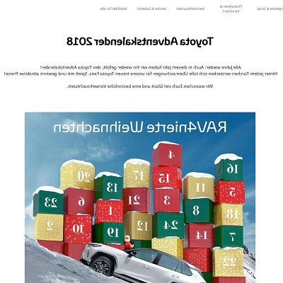 Toyota Adventskalender