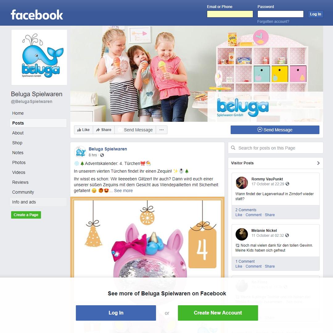 Beluga Spielwaren Adventskalender Facebook