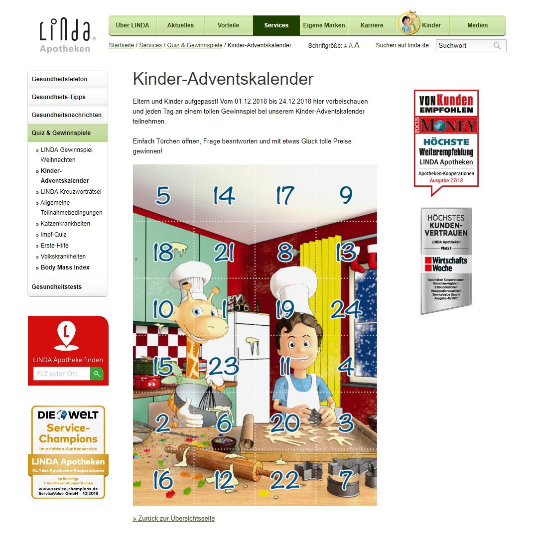 Linda Apotheke Adventskalender
