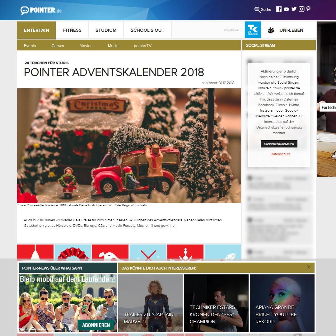 Pointer.de Adventskalender