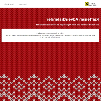 Raiffeisenbank adventskalender