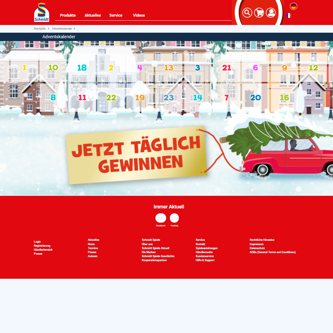 Schmidt Spiele Adventskalender
