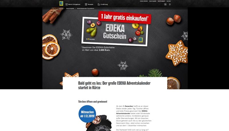 edeka adventskalender homepage