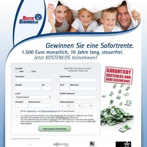 1500€ Sofortrente