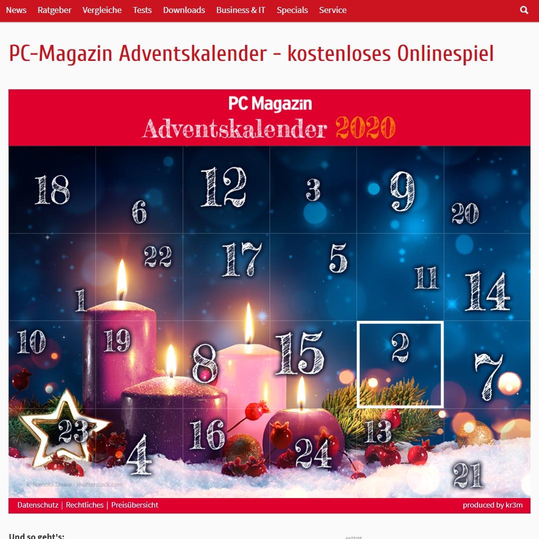 pc magazine adventskalender