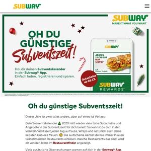 subway adventskalender